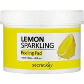 Двусторонние ватные пилинг-диски с лимоном Secret Key Sparkling Peeling Pad