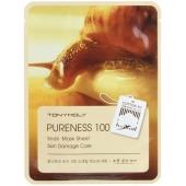 Тканевая маска для лица с улиточным муцином Tony Moly Pureness 100 Snail Mask Sheet
