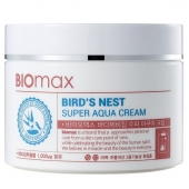 Интенсивно увлажняющий крем с  экстрактом ласточкиного гнезда Biomax Bird's Nest Super Aqua Cream