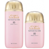 Солнцезащитная эмульсия SPF50 Missha All around Safe Block Soft Finish Sun Milk SPF50
