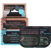 Дуэт масок для очищения пор Caolion Premium O2 Bubble And Cool Pore Pack Duo