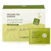 Влажные очищающие диски из хлопка The Saem Healing Tea Garden Cleansing Cotton Pads