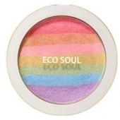 Компактные румяна-хайлайтер The Saem Eco Soul Prism Blusher