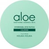 Успокаивающие патчи для глаз с алоэ вера Holika Holika Aloe Soothing Essence 80% Hydrogel Eye Patch