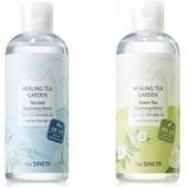 Очищающая и увлажняющая вода с экстрактом зеленого чая The Saem Healing Tea Garden Green Tea Cleansing Water