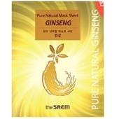 Тканевая маска с красным женьшенем The Saem Pure Natural Mask Sheet Ginseng