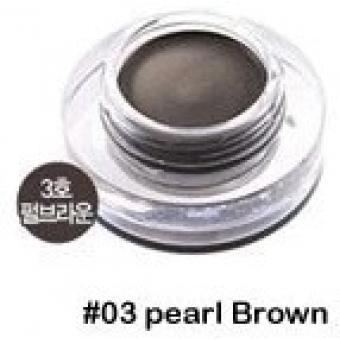 Гелевая подводка для глаз жемчужно-коричневая Tony Moly  Back Gel Eyeliner 3 - Pearl Brown