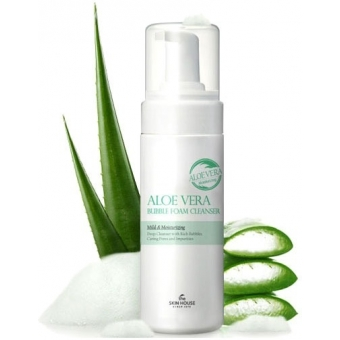 Мусс очищающий The Skin House Aloe Vera Bubble Foam Cleanser