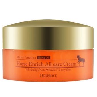 Крем для лица восстанавливающий Deoproce Horse Enrich All Care Cream