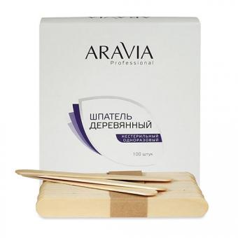 Шпатели Aravia Professional Деревянные одноразовые шпатели