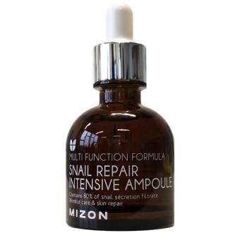 Сыворотка для лица с экстрактом улиточной слизи Mizon Snail repair intensive ampoule