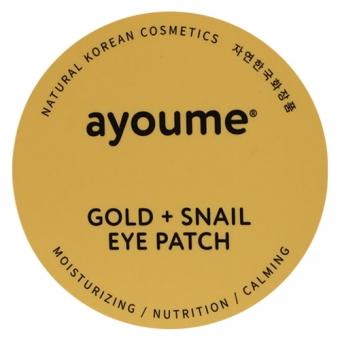 Гидрогелевые патчи для глаз с золотом и улиточным муцином Ayoume Gold and Snail Eye Patch