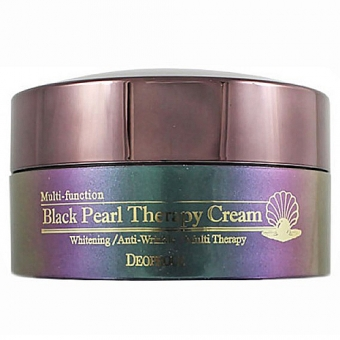 Осветляющий крем Deoproce Black Pearl Therapy Cream