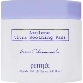 Успокаивающие подушечки для лица с азуленом Petitfee Azulene Ultra Soothing Pads