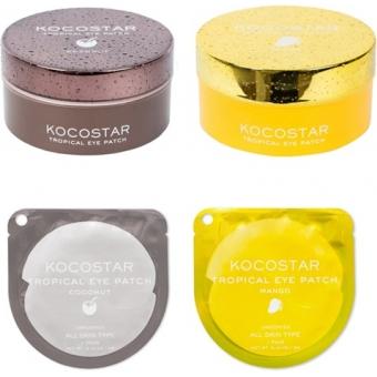 Гидрогелевые патчи с фруктовыми экстрактами Kocostar Tropical Eye Patch