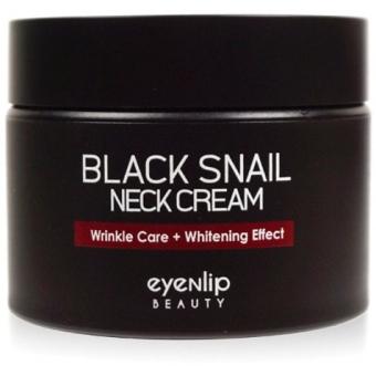 Антивозрастной крем для шеи с муцином Eyenlip Black Snail Neck Cream