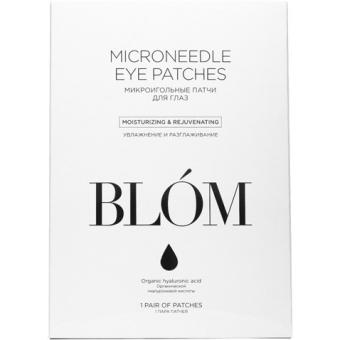 Увлажняющие патчи для век с микроиглами Blom Moisturizing and Rejuvenating Microneedle Eyepatches