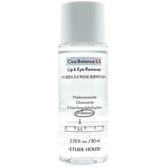Двухфазная жидкость для демакияжа губ и глаз с рН 5,5 Etude House Cica Balance 5,5 Lip and Eye Remover