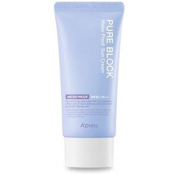 Водостойкий солнцезащитный крем для лица A'Pieu Pure Block Water Proof Natural Sun Cream SPF50 PA+++