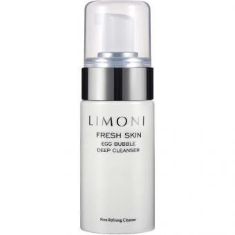 Пенка для умывания глубоко очищающая кожу Limoni Fresh Skin Egg Bubble Deep Cleanser