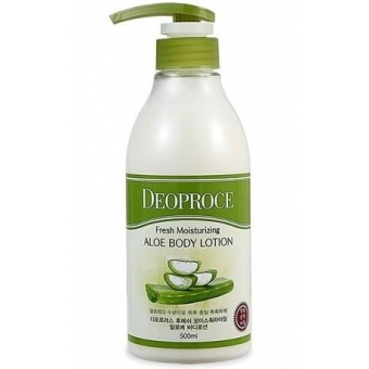 Лосьон для тела с экстрактом алоэ Deoproce Well-Being Fresh Moisturizing Aloe Body Lotion