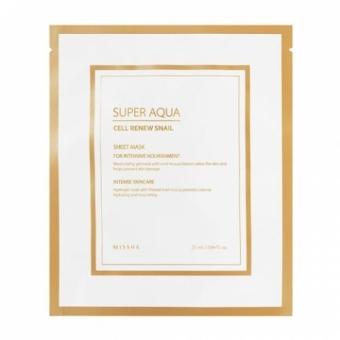 Антивозрастная  маска для лица Missha Super Aqua Cell Renew Snail Hydro Gel Mask