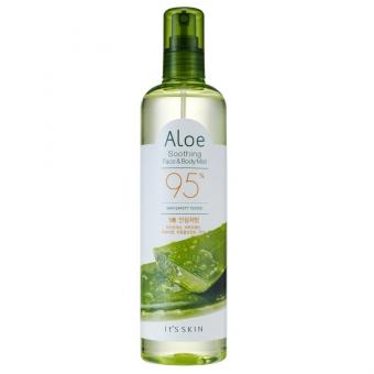 Успокаивающий спрей для лица и тела с экстрактом алоэ It's Skin Aloe Soothing Face And Body Mist 95%