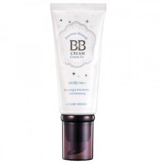 ББ крем  с жемчужной пудрой Etude House Precious Mineral BB Cream Cotton Fit Natural
