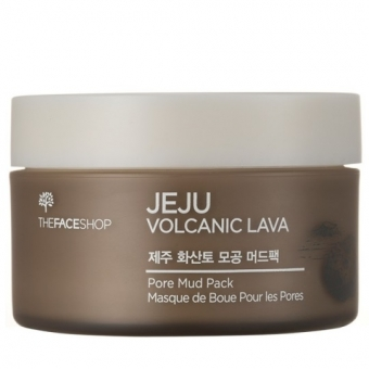 Грязевая очищающая маска The Face Shop Jeju Volcanic Lava Pore Mud Pack