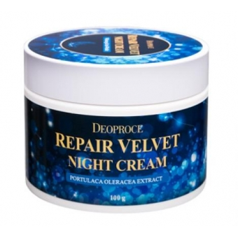 Ночной восстанавливающий крем для лица Deoproce Moisture Repair Velvet Night Cream