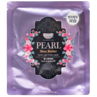 Гидрогелевая маска с маслом ши Koelf Pearl & Shea Butte Hydro Gel Mask Pack