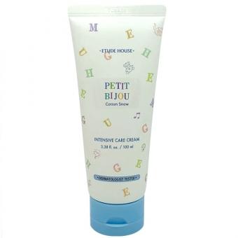 Интенсивно увлажняющий крем для тела Etude House Petit bijou cotton snow intensive care cream