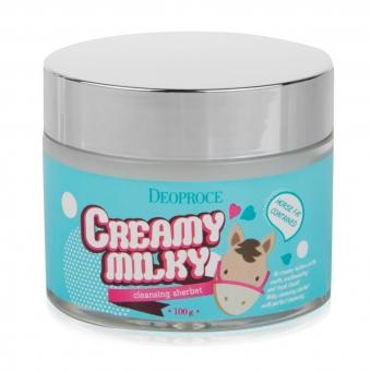 Щербет очищающий сливочный Deoproce Creamy Milky Cleansing Sherbet