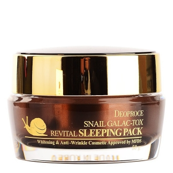 Ночная маска с улиткой Deoproce Snail Galaс Revital Sleeping Pack