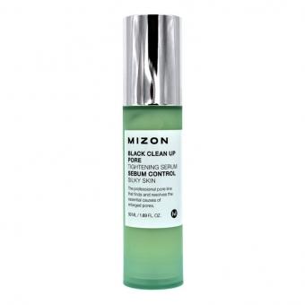 Сыворотка для сужения пор Mizon Black Clean Up Pore Tightening Serum