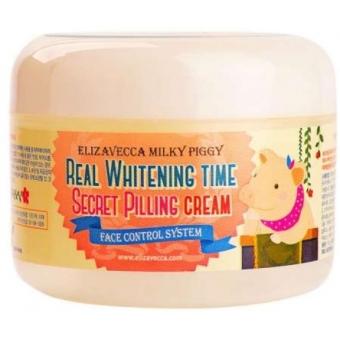 Осветляющий крем-пилинг для лица Elizavecca  Milky Piggy Real Whitening Time Secret Pilling Cream