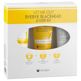 Набор для очищения пор Mizon Let Me Out ByeBye Blackhead 3-Step Kit