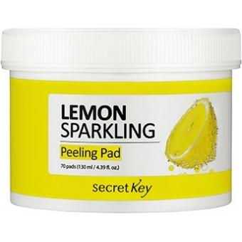 Двусторонние пилинг-диски с лимоном Secret Key Sparkling Peeling Pad