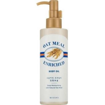 Масло с экстрактом овсянки для питания кожи Missha Oat Meal Enriched Body Oil