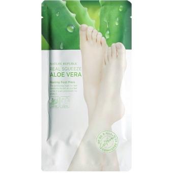 Пилинг маска для ног Nature Republic Real Squeeze Aloe Vera Peeling Foot Mask