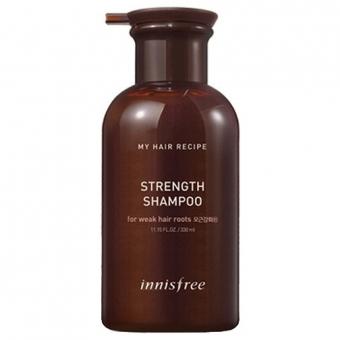 Бессиликоновый шампунь против выпадения волос Innisfree My Hair Recipe Strength Shampoo For Weak Hair Roots