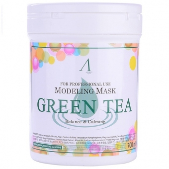 Альгинатная маска с зеленым чаем Anskin Green Tea Modeling Mask / container