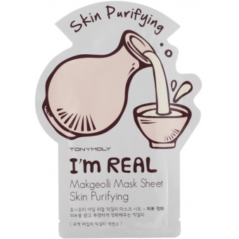 Тканевая маска для лица с макколи Tony Moly I'm Real Makgeolli Mask Sheet