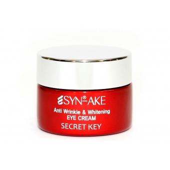 Омолаживающий крем для лица со змеиным ядом Secret Key Syn-Ake Anti Wrinkle and Whitening Cream