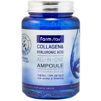 Антивозрастная сыворотка FarmStay Collagen and Hyaluronic Acid All-in-One Ampoule