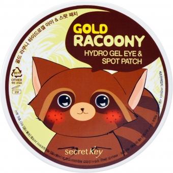 Патчи с золотом Secret Key Gold Racoony HydroGel Eye and Spot Patch
