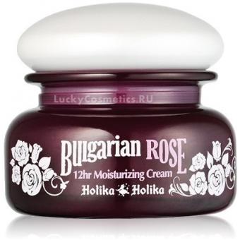 Крем для лица с болгарской розой 'Увлажнение на 12 часов' Holika Holika Bulgarian Rose 12Hr Moisturizing Cream