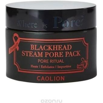 Разогревающая маска для очищения пор Caolion Premium Blackhead Steam Pore Pack