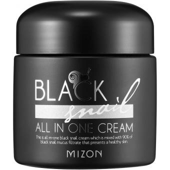 Крем со слизью черной улитки Mizon Black Snail All In One Cream