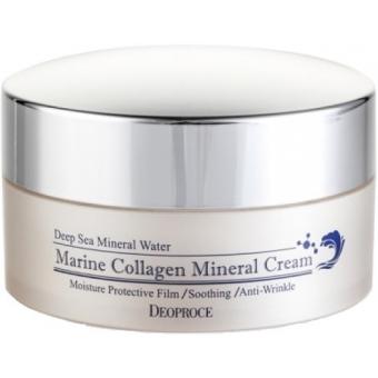 Крем для лица минеральный Deoproce Marine Collagen Mineral Cream